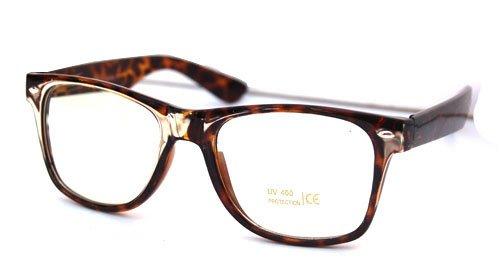 Amazon.com: MLC Eyewear Vintage Horn Rimmed Tortoise Frame Glasses ...