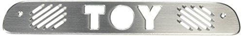 All Sales 74007 Brushed Billet Aluminum Third Brake Light Cover - TOY (Logo Brake)