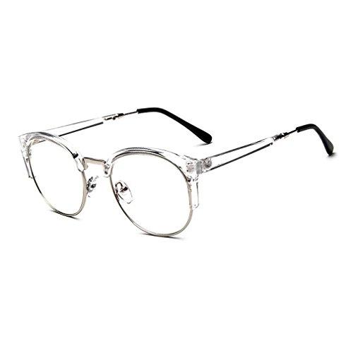 MOQQE Eyeglasses Glasses Frame Eyewear Fashion Cateye Round For Men and - For Fake Ray Bans Kids