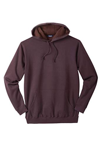 Big And Tall Drawstring Sweatshirt - KingSize Men's Big & Tall Fleece Pullover Hoodie, Raisin Big-4Xl