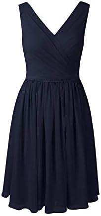 Alicepub 브이넥 시폰 신부 들러리 드레스 짧은 파티 칵테일 홈커밍 드레스 민소매 / Alicepub 브이넥 시폰 신부 들러리 드레스 짧은 파티 칵테일 홈커밍 드레스 민소매