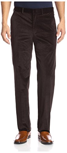 Franklin Tailored Men's Flat Front Corduroy Tyler Trouser, Brown, 33 US (Tailored Corduroy)