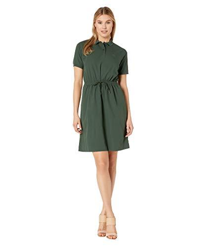 Lacoste Women's S/S Polo Dress W/Cinched Waist, Caper Bush ()