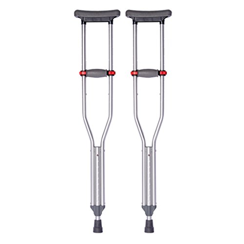 Non-Slip Aluminum Alloy Underarm Crutches, Height Adjustable Crutches, Retractable Light Walking Stick - Aluminum Adjustable Underarm Crutch