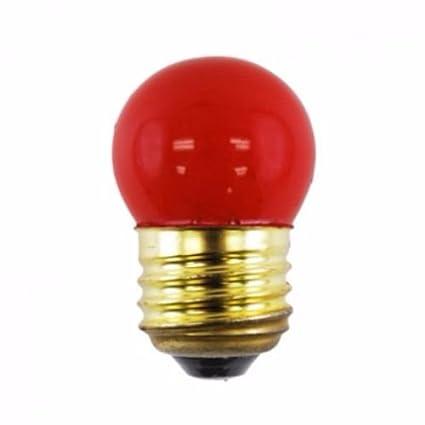 7.5W Pack of 10 Norman Lamps 7.5S11-130V-CRx10 Ceramic Red Light Bulb 130V