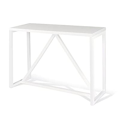 Kate and Laurel Kaya Wood Console Table, White - Decorative modern console table brings a stylish statement to your home entryway or living room Bring glamour and sophistication into your home with this modern minimalist design console table Console table is high quality and measures 42 inches wide by 14 inch deep by 30 inches high - living-room-furniture, living-room, console-tables - 31UXHHfzlBL. SS400  -