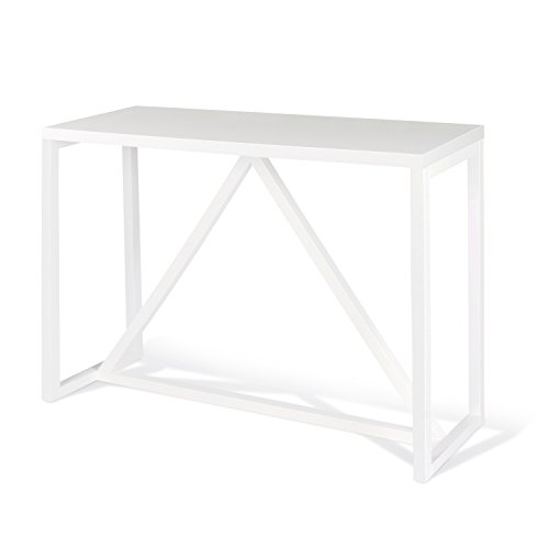 Kate and Laurel Kaya Wood Console Table, (White Sideboard Table)
