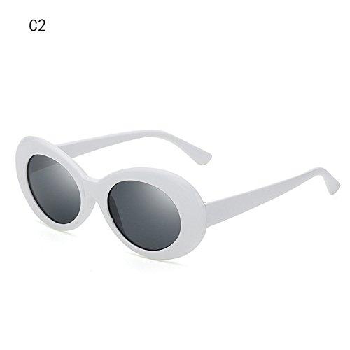 Moda C2 Gafas Mujer ZHANGYUSEN Men's Sra Designer Ovalada Nueva 2018 Gafas la de de Retro Sol de C3 Anteojos Sol Forma wCERZqC