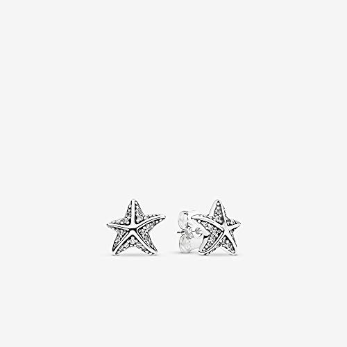 PANDORA - Tropical Starfish Earring in Sterling Silver with Clear Cubic Zirconia