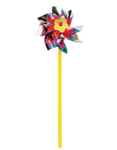 Fun Express Rainbow Pinwheel Set (3 Dozen)]()