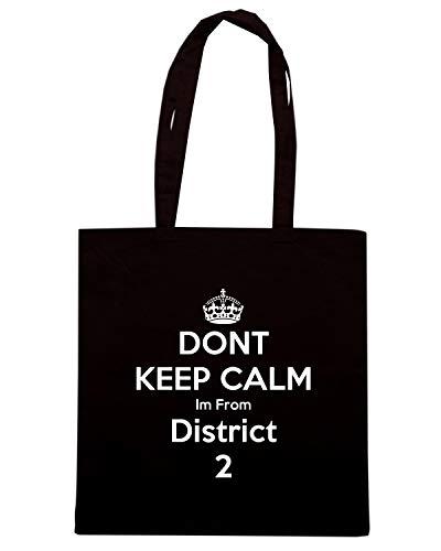 TKC3679 Nera DISTRICT Shopper Borsa FROM 2 IM KEEP Shirt Speed CALM aIpRww