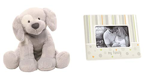 Gund Puppy Spunky Plush Sound and My Family Picture Frame Baby Gift - Pictures Puppies Baby