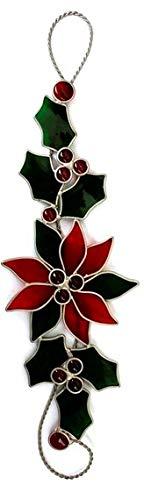 JGS Stain Glass Poinsettia Scroll