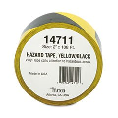 TCO14711 - Tatco Hazard Marking Aisle Tape (Marking Tape Hazard Tatco)