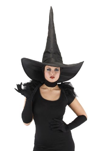 elope Wicked Witch Deluxe Hat, Black, One (Wicked Witch Wizard Of Oz)