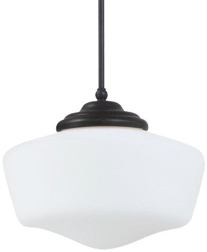 Sea Gull Lighting 65437-782 Academy Pendant Medium One Light Brushed - Seagull Pendant Lighting