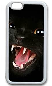 Angry Cat DIY Rubber White iphone 6 Case On Custom Service