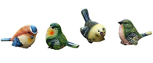 「Shikyo Japan」 Garden ornament Cute Small Bird (Four Small - Beautiful Life Blog