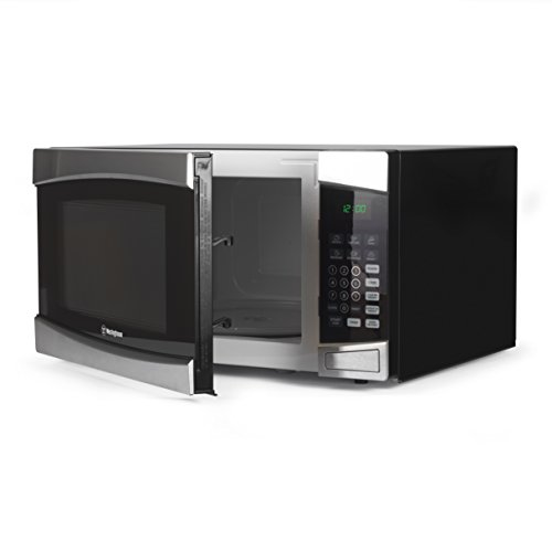 - Westinghouse WCM16100SS 1000 Watt Counter Top Microwave Oven, 1.6 Cubic Feet, Stainless Steel Front, Black Cabinet