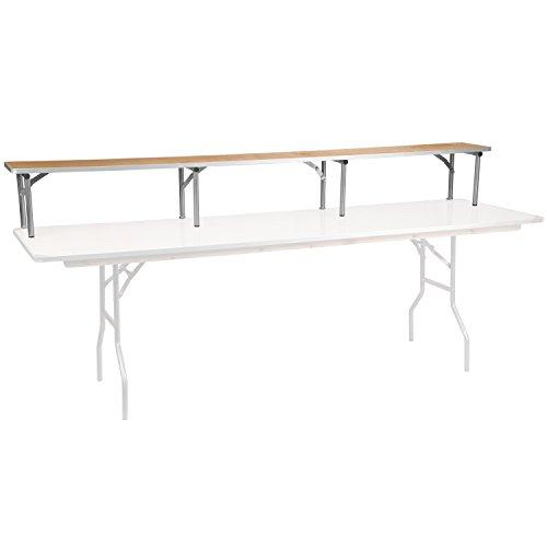 Flash Furniture 96'' x 12'' x 12'' Birchwood Bar Top Riser with Silver Legs
