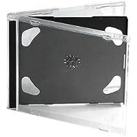 Dragon Trading® - Cajas para CD (10,4 mm, para 2 discos con bandeja negra, 10 unidades)