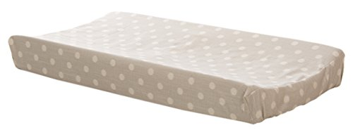 Glenna Jean Fly-By Changing Pad Cover, Grey Dot ()