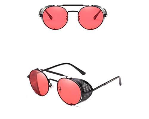 Estilo Steampunk Hombres de Vintage Redondo Marca De Punk Sol Gafas la Sol Gafas Hombres KOMNY de A Diseñador Gafas Sol Moda de Gafas Malla de B 5zBRq