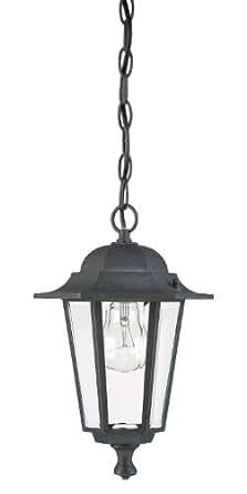 Westinghouse Lighting 6784300 One Light Exterior Pendant Lantern Textured Black Finish On Cast