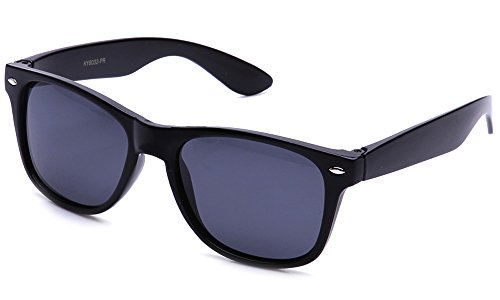 Newbee Fashion - 80's Classic Blue Brothers Wayfarer Style Vintage Retro Dark Polarized - Bans Wayfarer Sale Ray