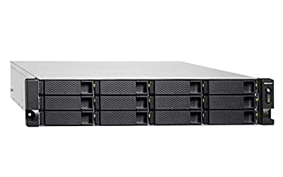 QNAP TVS-1272XU-RP-i3-4G-US 12 Bay Rackmount NAS with Redundant Power Supply and 8th Gen Intel Core i3 Processor. 4GB RAM. Built-in Mellanox ConnectX-4 Lx 10GbE Controller. iSER Supported. from QNAP