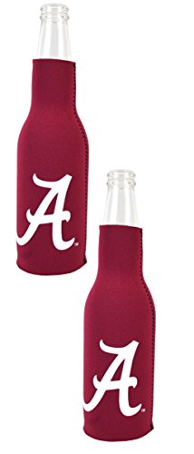 Alabama Bottle Insulated (Official National Collegiate Athletic Association Fan Shop Authentic NCAA 2-pack Insulated Bottle Cooler (Alabama Crimson Tide))