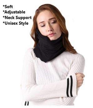Travel Pillow Scarf for Sleeping and Neck Comfort Made with Soft Washable Fabric One Size Fits Most with Velcro Snap
