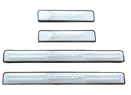 OLIKE for Toyota Corolla 2014 15 16 2017 Stainless Steel Door Sill Scuff Plate Guard Sills Protector Trim