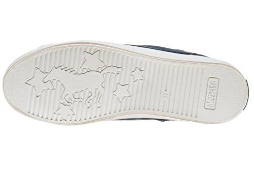 Donna Mustang 501 Navy Alto A Collo Sneaker Blu 1267 20 0TF6R0
