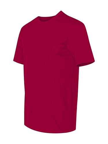 Hanes Men's Short Sleeve Cool DRI T-Shirt UPF 50+, Deep Red, Medium (Pack of 2) -