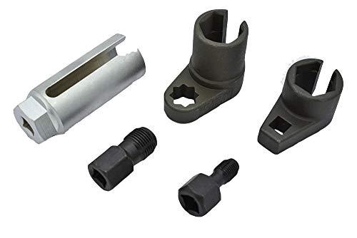 JINDITAI 5PC 3/8 Dr 22mm Oxygen Sensor Remove Socket Set Kit Thread Chasers Spark Plug Chasers by JINDITAI (Image #1)