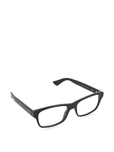 Gucci GG 0006O 005 Black Plastic Rectangle Eyeglasses 55mm by Gucci