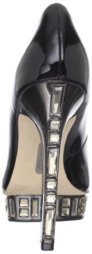 Boutique 9 Vrouwen Nieuwsgierige Peep-toe Pump Zwart Patent
