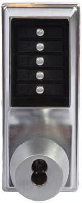 Kaba 1021B-26D-41 Cylindrical Pushbutton Knob Bic Ko Us26D Satin Chrome