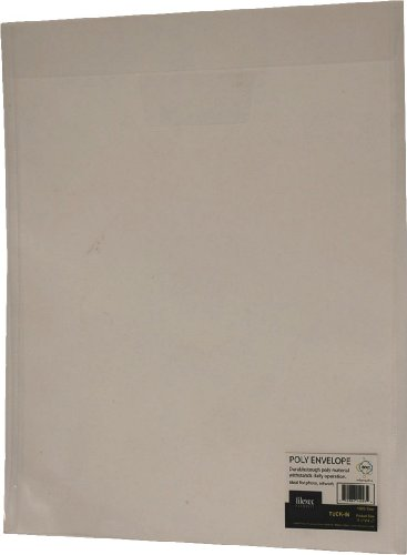 Filexec Poly Envelope, Top load, Tuck in closure,Clear, (Pack of 6) (50061-14293) ()