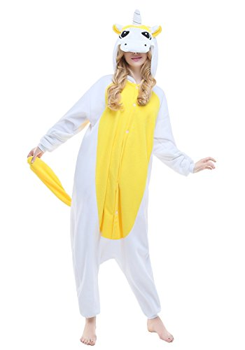[Newcosplay Unisex Unicorn Pyjamas Halloween Costume (S, Golden Unicorn)] (Unisex Halloween Costumes)