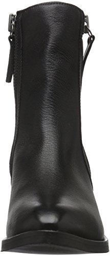 48987 Black Warm Bootees Bianco Black and Boots Outside W 10 Women's Lined 33 Zip Boot Warm Shaft Short HUYfqwR