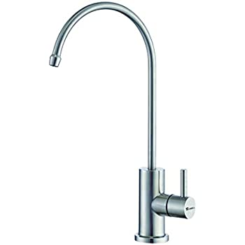 TRYWELL Kitchen Bar Filter Faucet, Lead-Free Drinking Water Beverage Faucet for Reverse Osmosis and Water Filtration System in Non-Air Gap, 100% T304 Stainless Steel