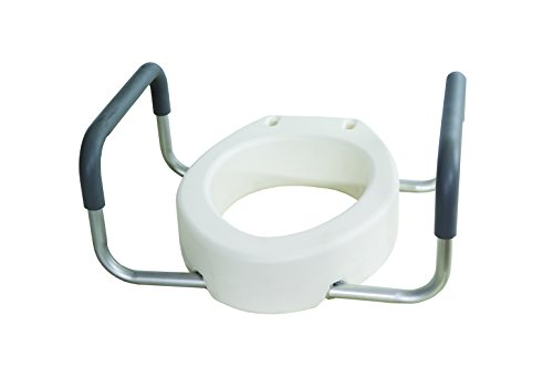 Essential Medical Supply Elevated Toilet Seat with Arms, Elongated by Essential Medical Supply (Image #2)
