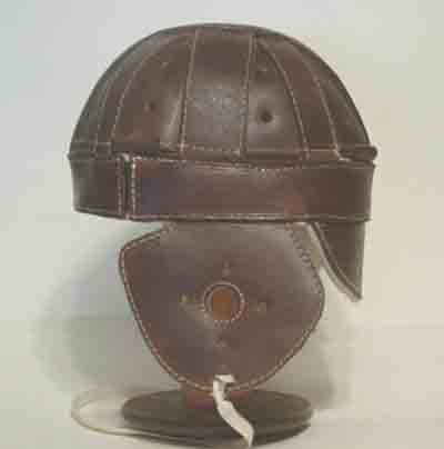 Dog-Ear Leather Football Helmet -