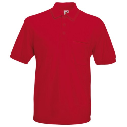 Fruit of the Loom 65/35 poche Polo pour Femme rouge L