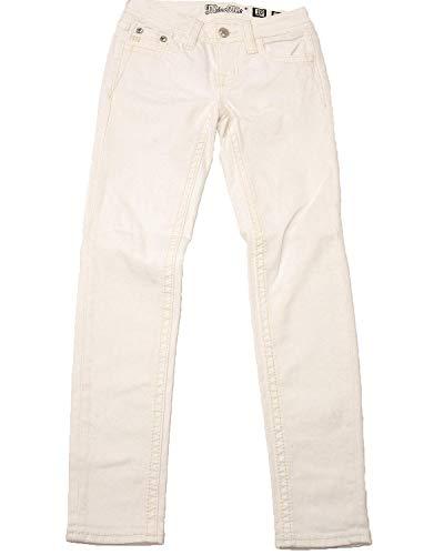 Miss Me Girls' White Cross Skinny Jeans White 14