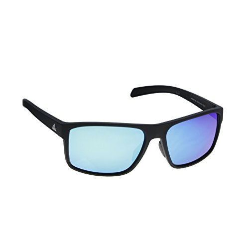 adidas Mens Whipstart a423 6055 Rectangular Sunglasses, Black Matte, 61 - Parts Spare Sunglasses