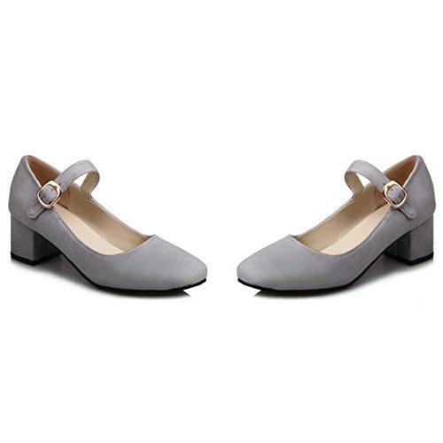 Shoes Grey Women's Jane TAOFFEN Mary Fashion wxqBR7O