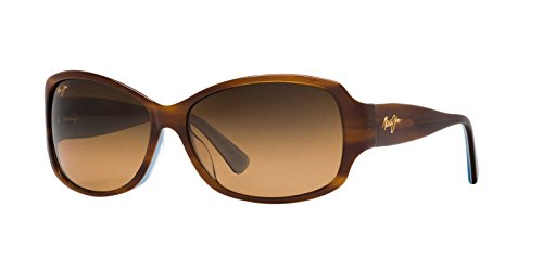 Maui Jim Nalani HS295-03T | Sunglasses, Tortoise with White, with with Patented PolarizedPlus2 Lens ()